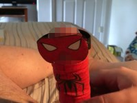 【バカエロ】チンコをスパイダーマンにしてみた