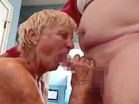 【フェラ】70歳のおばあちゃんのフェラテクでイっちゃうおじいちゃん