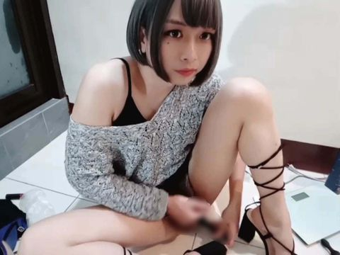 台湾の可愛すぎる男の娘がセンズリ配信する無修正自撮り動画