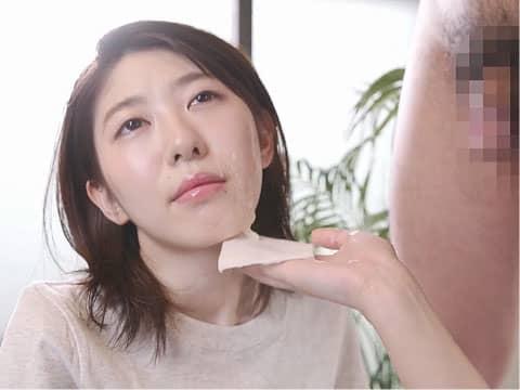 【ぶっかけ】射精したてのザーメンは天然成分が豊富なので美容にとってもいいらしいゾ