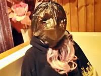 フィメールマスクを脱いでもマスク!?美少女着ぐるみマスクの重ね着け窒息プレイ!