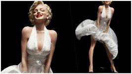 【神クオリティ】マリリン・モンローの風パンチラフィギュアがドチャシコすぎてヤバい……